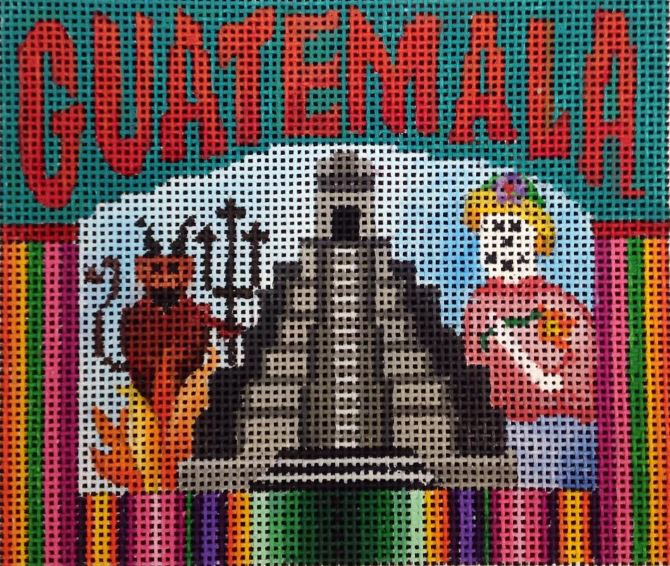 click here to view larger image of Postcard - Guatemala (hand painted canvases)