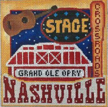 click here to view larger image of Postcard - Nashville (hand painted canvases)
