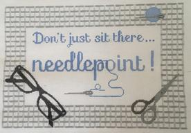 click here to view larger image of Dont just sit there - Needlepoint ! Blue (hand painted canvases)