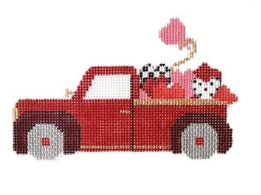 click here to view larger image of Valentine Truck (hand painted canvases)