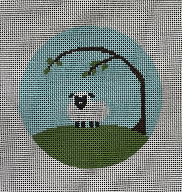 click here to view larger image of Home - Spring Lamb Ornament (hand painted canvases)