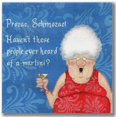 click here to view larger image of Prozac Schmozac! ...Martini (hand painted canvases)