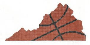 click here to view larger image of Basketball State Shaped - Virginia (hand painted canvases)