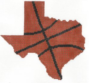 click here to view larger image of Basketball State Shaped - Texas (hand painted canvases)