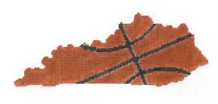 click here to view larger image of Basketball State Shaped - Kentucky (hand painted canvases)