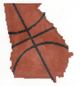 click here to view larger image of Basketball State Shaped - Georgia (hand painted canvases)