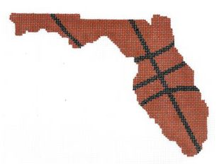 click here to view larger image of Basketball State Shaped - Florida (hand painted canvases)