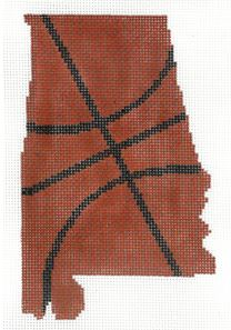 click here to view larger image of Basketball State Shaped - Alabama (hand painted canvases)