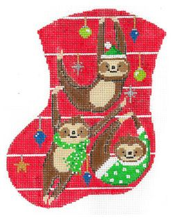 click here to view larger image of Slothy Christmas (hand painted canvases)