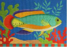 click here to view larger image of Green Tropical Fish (hand painted canvases)