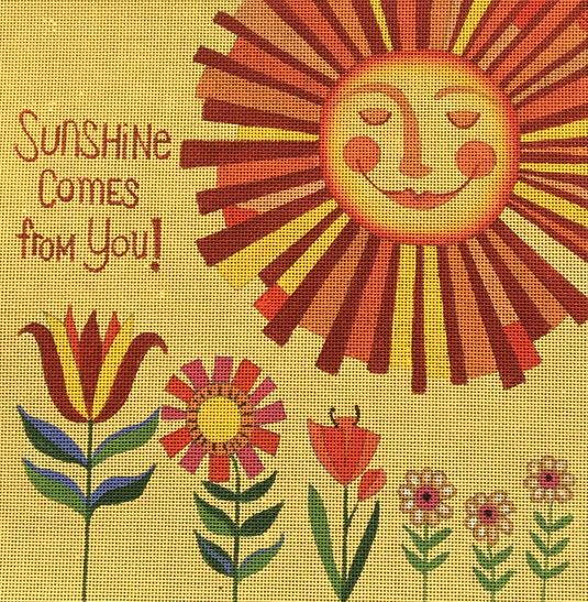 click here to view larger image of Sunshine (hand painted canvases)
