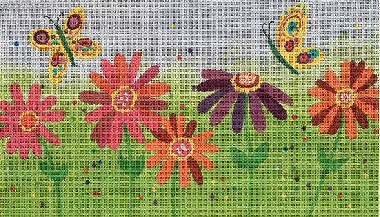 click here to view larger image of Spring Flowers (hand painted canvases)