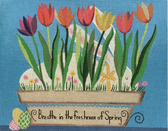 click here to view larger image of Breathe in Spring  (hand painted canvases)