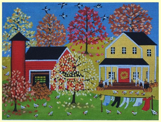 click here to view larger image of Colors of Autumn (hand painted canvases)