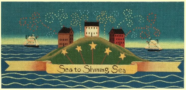 click here to view larger image of Sea to Shining Sea (hand painted canvases)