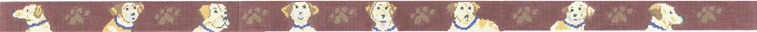 click here to view larger image of Yellow Lab Belt (hand painted canvases)