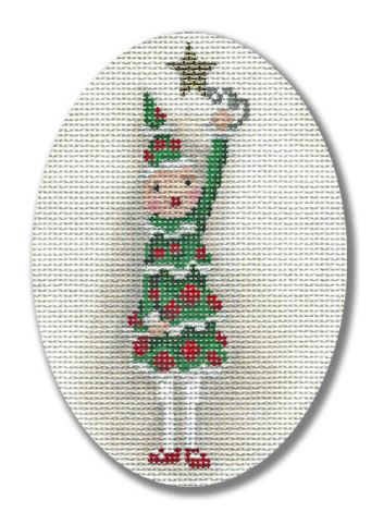 click here to view larger image of Christmas Tree Polar Girl (hand painted canvases)