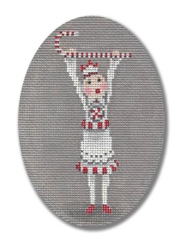 click here to view larger image of Candy Cane Polar Girl (hand painted canvases)