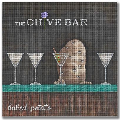 click here to view larger image of Chive Bar, The (hand painted canvases)