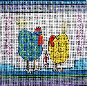 click here to view larger image of Calico Chicken (hand painted canvases)