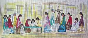 click here to view larger image of Navajo Fair (hand painted canvases)