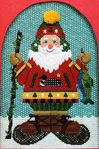 click here to view larger image of North Woods Santa (hand painted canvases)