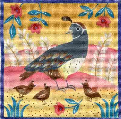 click here to view larger image of Quail (hand painted canvases)