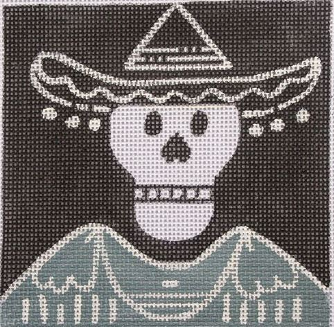 click here to view larger image of Day of the Dead - Sombrero (hand painted canvases)