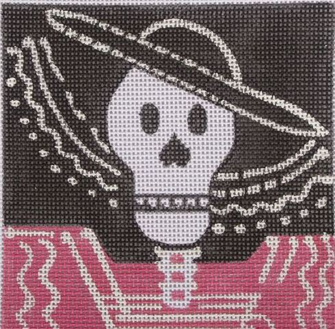 click here to view larger image of Day of the Dead - Fancy Hat (hand painted canvases)
