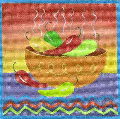 click here to view larger image of Chili (hand painted canvases)