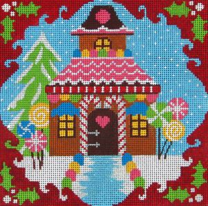 click here to view larger image of Christmas House (hand painted canvases)