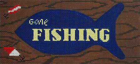 click here to view larger image of Gone Fishing (hand painted canvases)