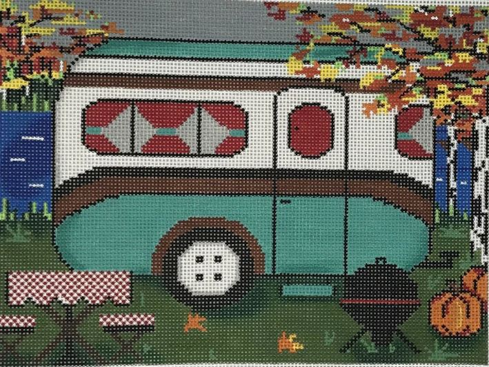 click here to view larger image of Fall Travel Trailer (hand painted canvases)