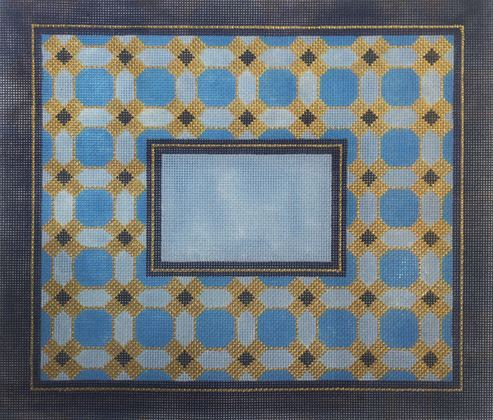 click here to view larger image of Blue Geometric II Tallis (hand painted canvases)