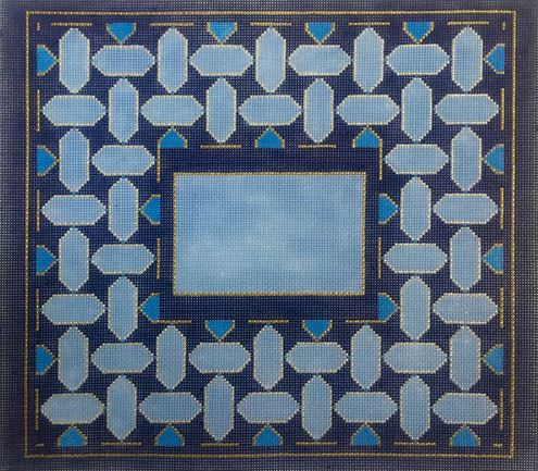 click here to view larger image of Blue Geometric I Tallis (hand painted canvases)