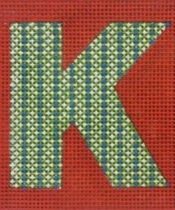 click here to view larger image of Monogram - Patterned Letter on Red (hand painted canvases)