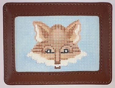 click here to view larger image of Fox Head on Light Blue  (hand painted canvases 2)