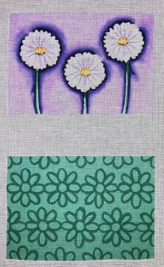 click here to view larger image of Daisy Clutch - 2 Sided (hand painted canvases)
