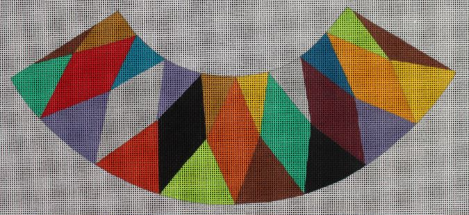 click here to view larger image of Lampshade - Harlequin Pattern  (hand painted canvases)
