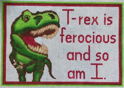 click here to view larger image of T Rex Is Ferocious and So Am I (hand painted canvases)