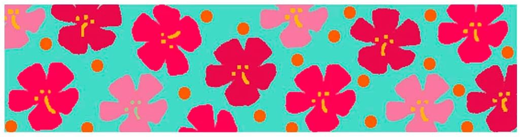 click here to view larger image of Candle Cozie - Hibiscus (printed canvas)