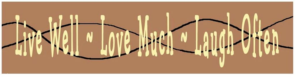 click here to view larger image of Candle Cozie - Live Love Laugh (printed canvas)