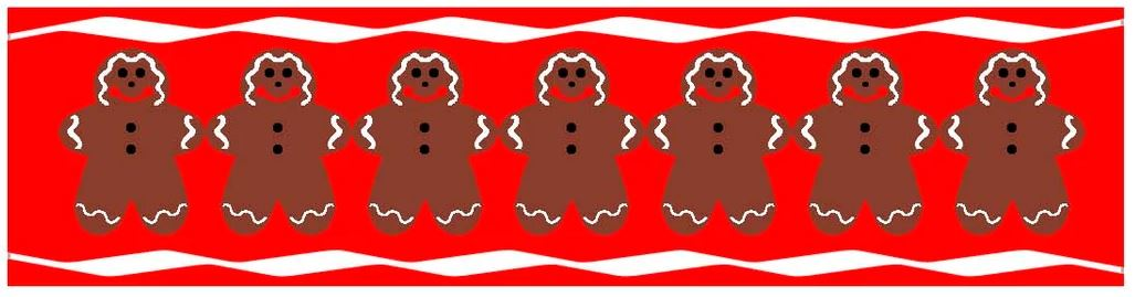click here to view larger image of Candle Cozie - Gingerbread Men (printed canvas)