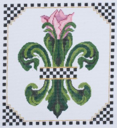 click here to view larger image of Tulip Fleur di Lis   (hand painted canvases)