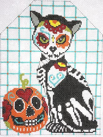 click here to view larger image of Day of the Dead Cat (hand painted canvases)