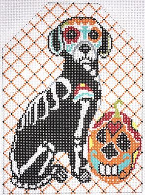 click here to view larger image of Day of the Dead Dog (hand painted canvases)