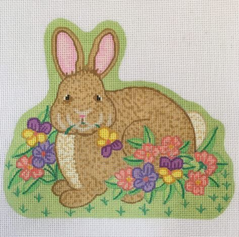 click here to view larger image of Shaped Bunny - 4 (hand painted canvases)