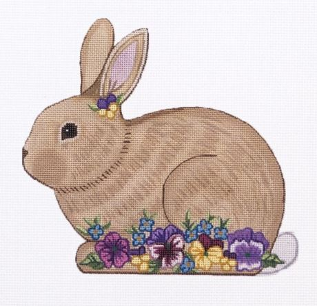 click here to view larger image of Shaped Bunny - 2 (hand painted canvases)