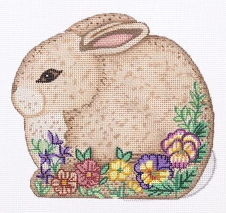 click here to view larger image of Shaped Bunny - 1 (hand painted canvases)