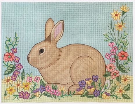 click here to view larger image of Shaped Bunny - BP101 (hand painted canvases)